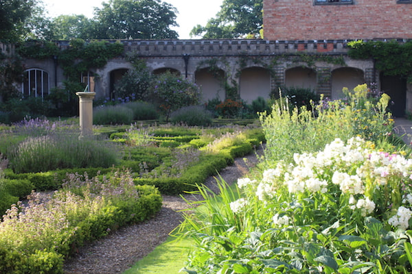 The Courtyard Garden at Holme Pierrepont Hall