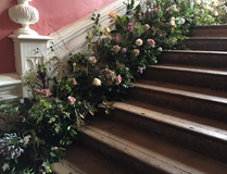 Flowers on the Grand Charle II staircase
