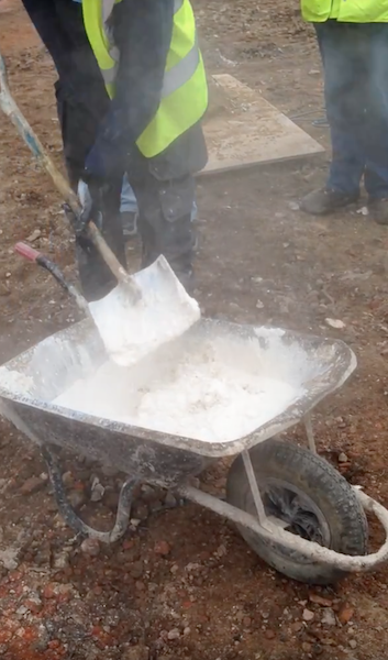 Building Conservation Lime Mortar Mixing